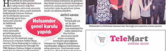 Holsamder yeni yonetim Hurriyet gazetesi haberi